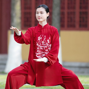 Tai chi clothing chinese kung fu uniforms Women hand painted Yingmei training clothing