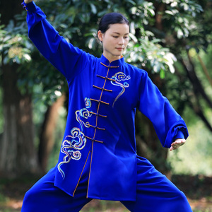 Tai chi clothing chinese kung fu uniforms Women new elegant Tai Chi Clothingquan training clothes men middle and long style performance wear