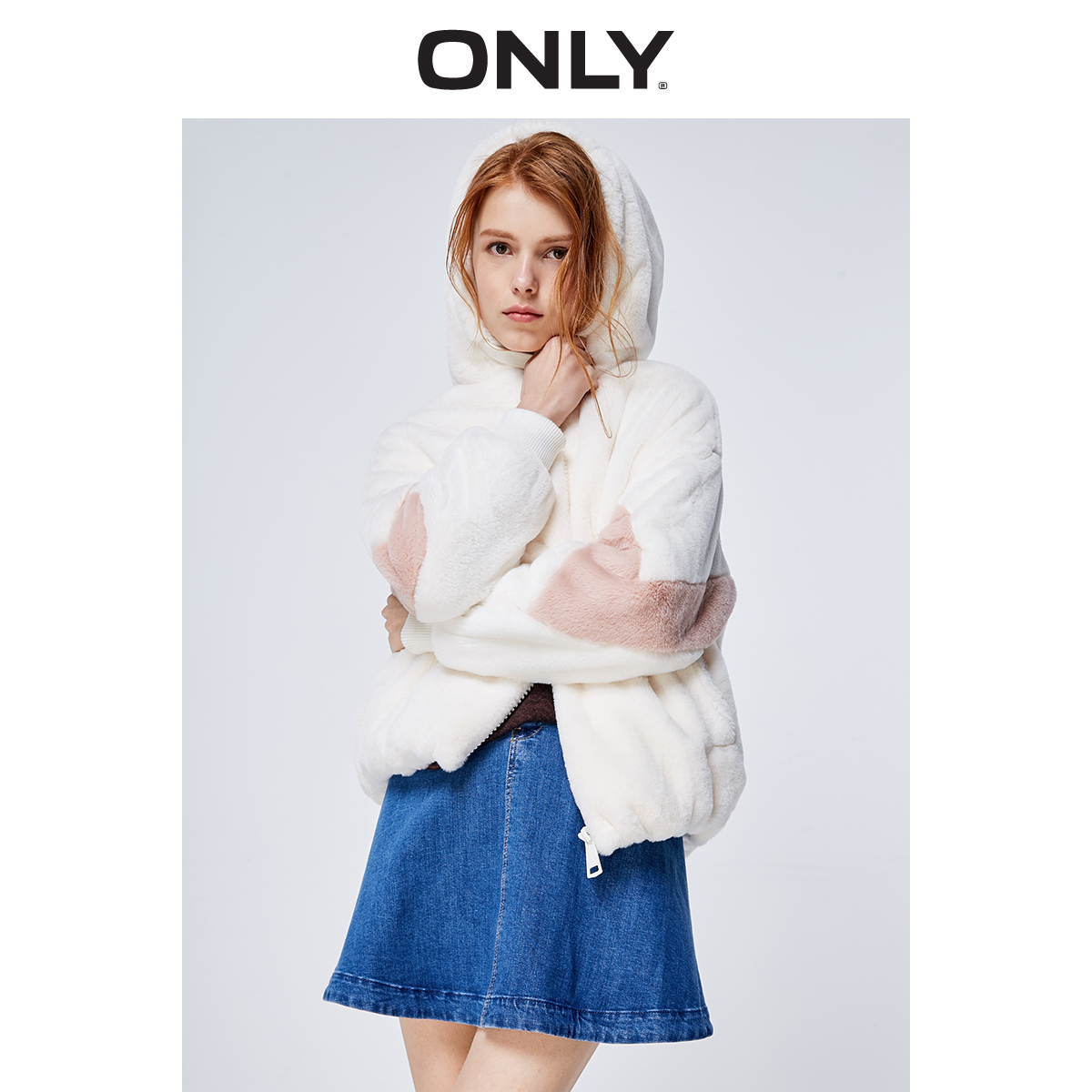 ONLY2019 новый зимний осенний сладкий свободный плюш краткое модель случайный закрытый пальто женщина |11911L502 586090159235