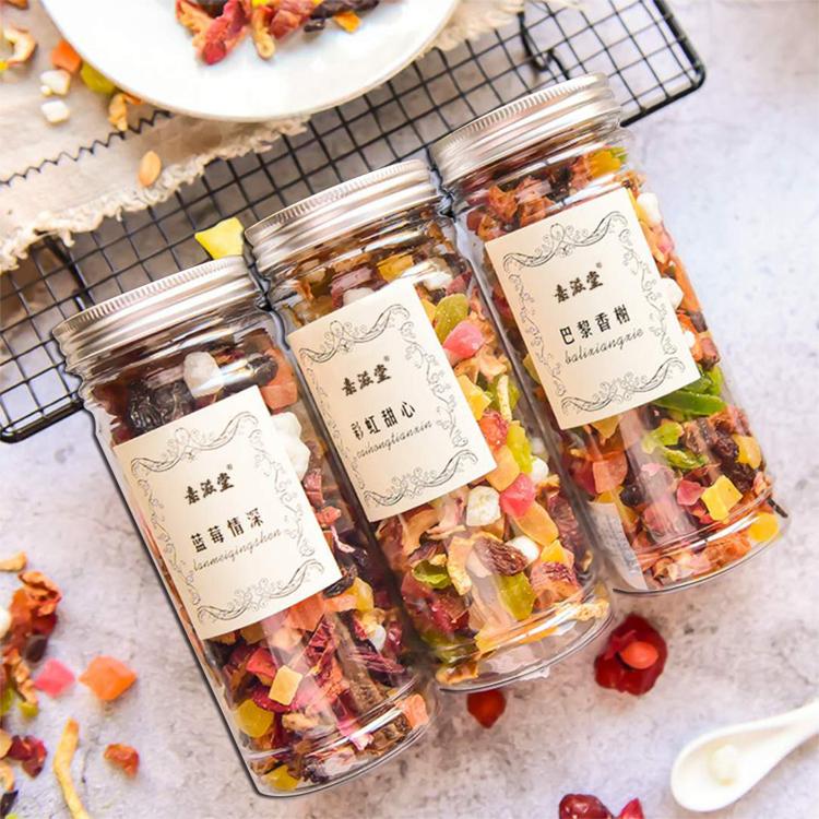 3罐装 水果茶花果茶巴黎香榭/蓝莓情深/彩虹甜心组合花果茶果粒干