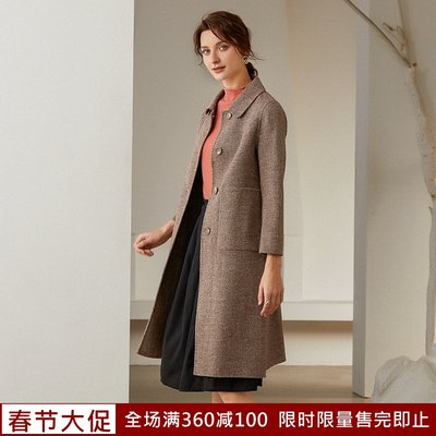 Joineta brand women's 2021 autumn and winter new wool, long section double-sided cashmere coat coat