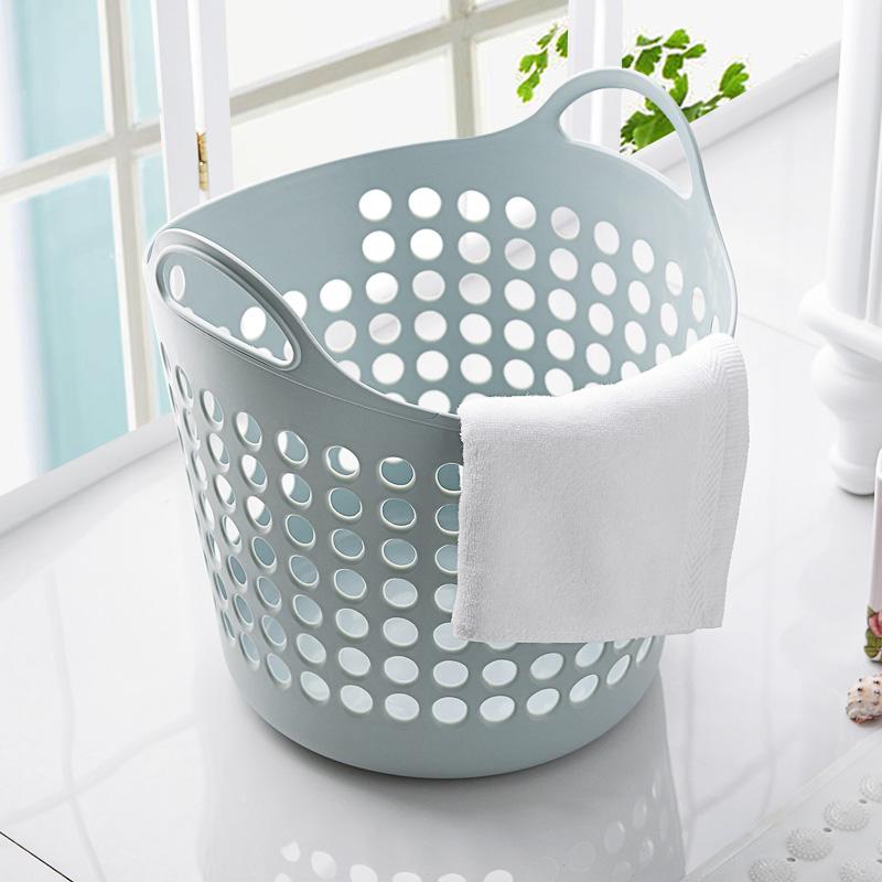 塑料大号脏衣篮手提素色脏衣服收纳篮脏衣篓玩具杂物整理筐置物篮