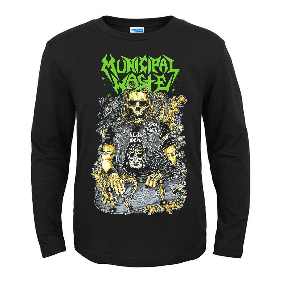 歐美Municipal Waste重金屬Heavy Metal搖滾死核鞭撻金屬t恤
