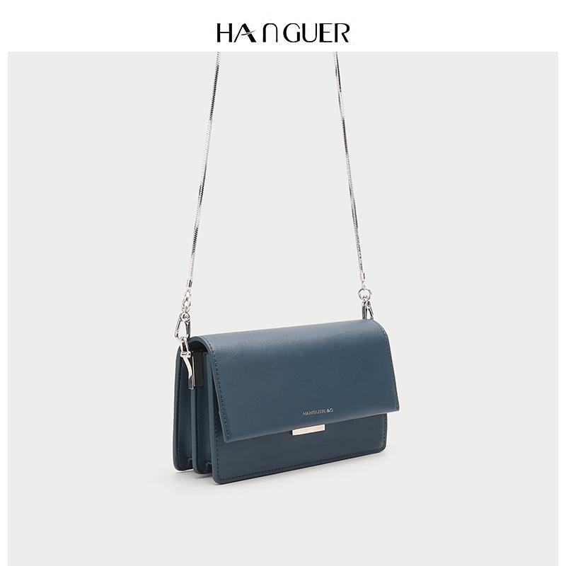 HANGUER&CK 专柜夏季雾霾蓝小包包女2019年新款高级感链条斜挎包,免费领取30元淘宝优惠卷