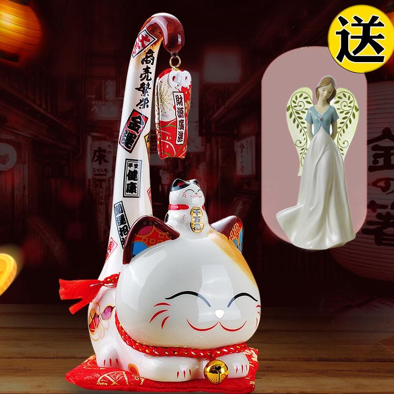 Камень работа место длинный хвост кот прибыльным керамика кот творческий подарок магазин открытый подарок счастливая кошка украшение