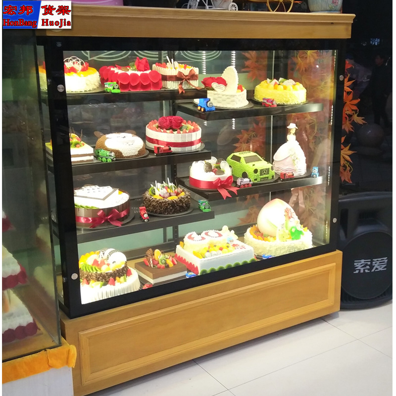 Bread model cabinet Iron bread cabinet Nakajima display cabinet glass cabinet finished cake display cabinet bread ... : patisserie display cabinet - Cheerinfomania.Com