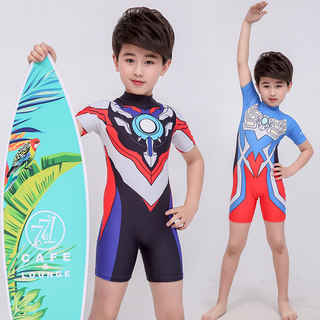 Children's swimsuits, boys' one-piece Ultraman clothes, boys' swimwear, children's sunscreen, baby quick-drying, big children