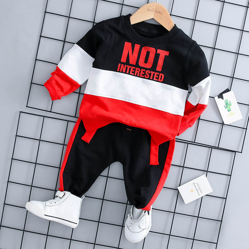 Baby autumn suit boy long-sleeved child clothes children's clothing 0-2-3 years old infant autumn two-piece suit