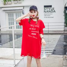 实拍纯棉短袖t恤女装2018夏装新款韩版宽松百搭学生长款体恤