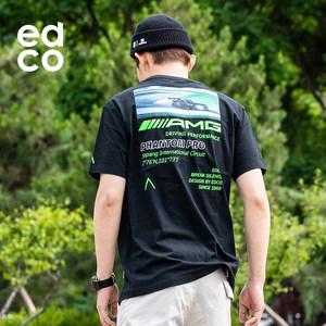 机能户外潮牌 艾德克EDCO AMG联名款 男纯棉T恤 主图