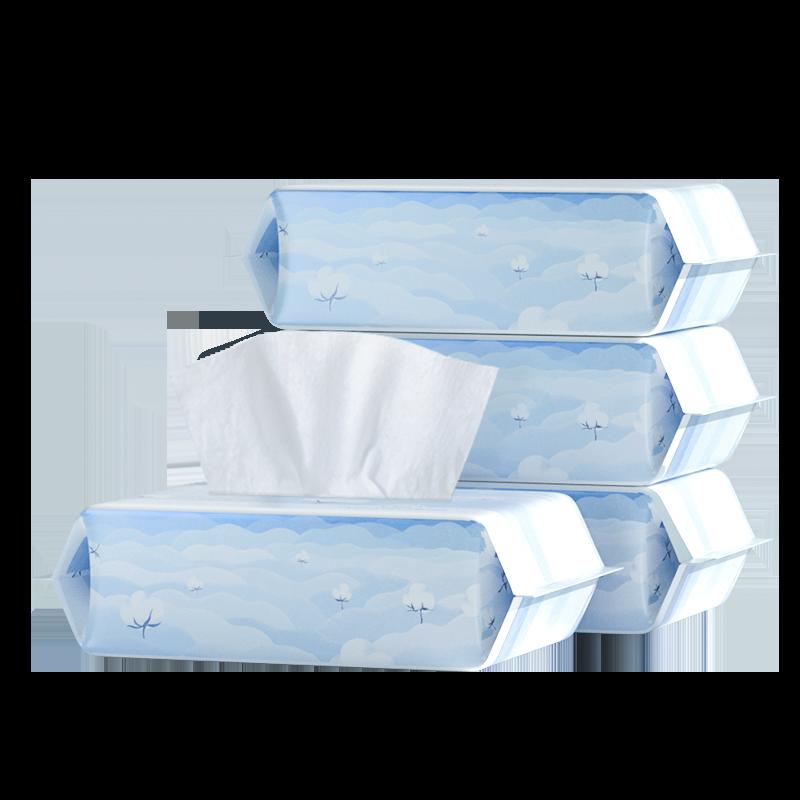 全棉时代一次性洗脸巾纯棉干湿两用