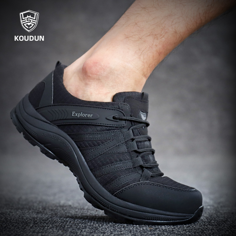 Ultra-light new summer 07 for training shoes black military shoes mesh training shoes men's breathable running sports security shoes
