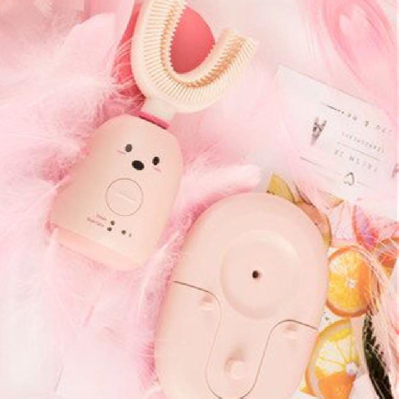 巴巴虎全自动宝宝刷牙u型形儿童电动牙刷软毛充电口含式智能神器