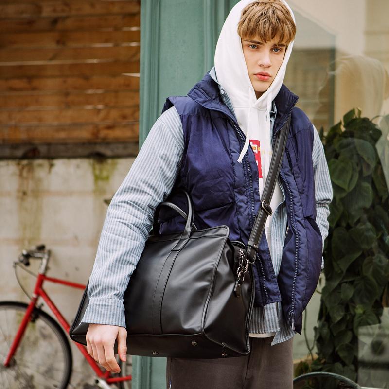 商务旅行包男大容量手提包,出差男士休闲时尚潮流