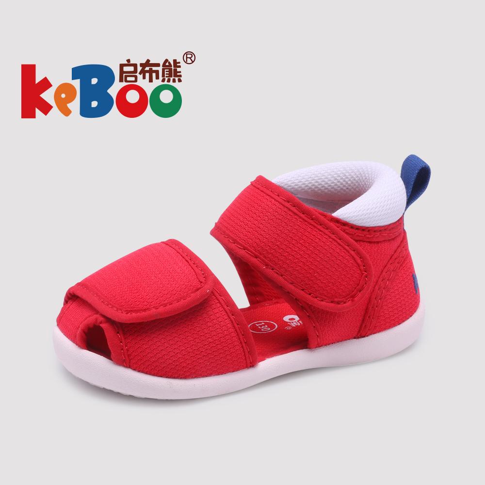 男宝宝凉鞋学步鞋夏女0一1-2-3岁婴儿软底防滑公主鞋包头机能布鞋