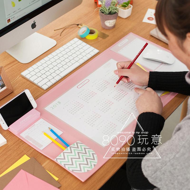 2019 Korean Stationery Mouse Pad Calendar Desktop Mat Large Thickened Desk Cute Home