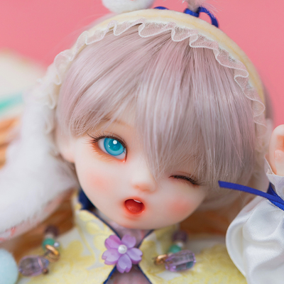 taobao agent Ringdoll ring humanoid rice cake rabbit ears cute BJD doll SD male 6 points official original genuine