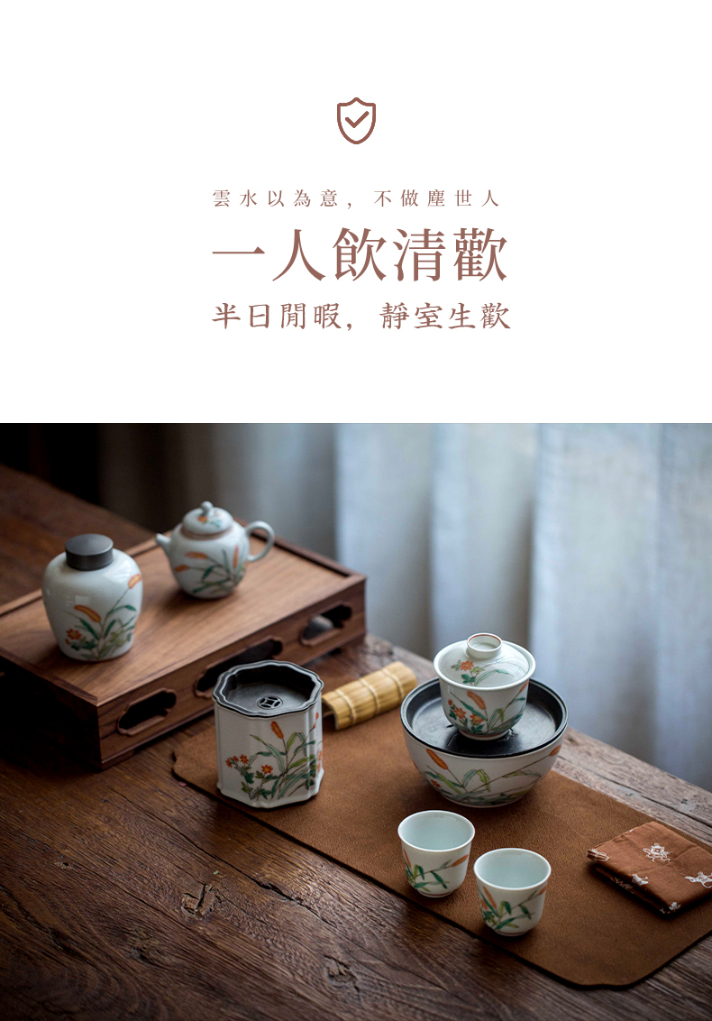 High - end checking hand - made ceramic story town tureen three tureen single spring back to tureen