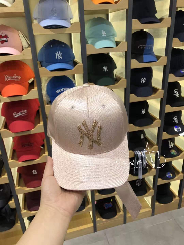 8d187869c68 ... MLB hat 18 South Korea spring new NY diamond bow adjustment belt female  curved baseball cap