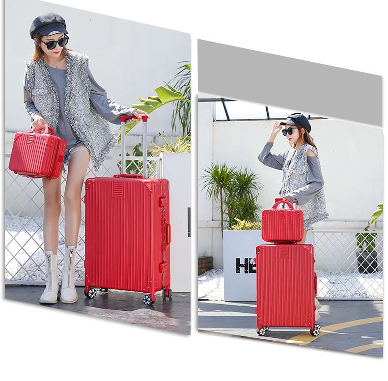 拉桿箱万向轮网红行李箱潮女小型寸新款旅行密码皮箱子男详细照片