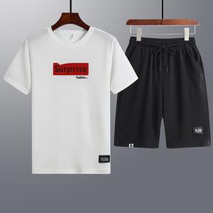 (爆款来袭)运动休闲2件套T恤短裤套装