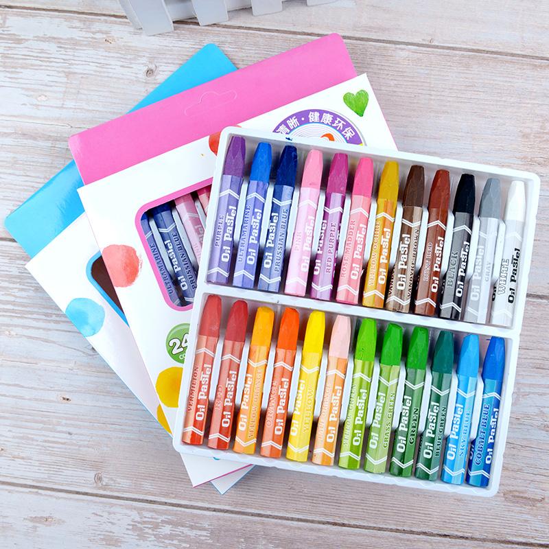 24色油画棒36色48色宝宝蜡笔