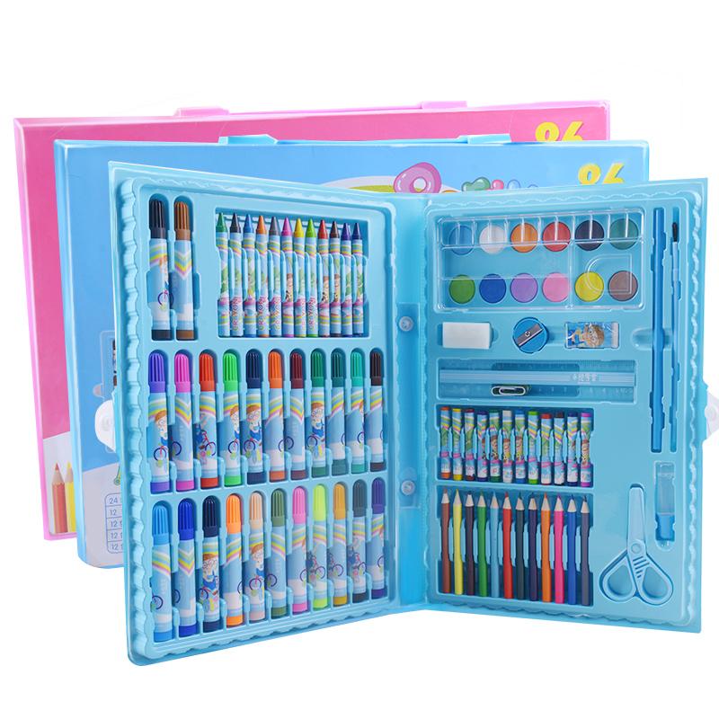 学生用品奖品 水彩笔绘画套装工具46pcs儿童六一礼品文具套装