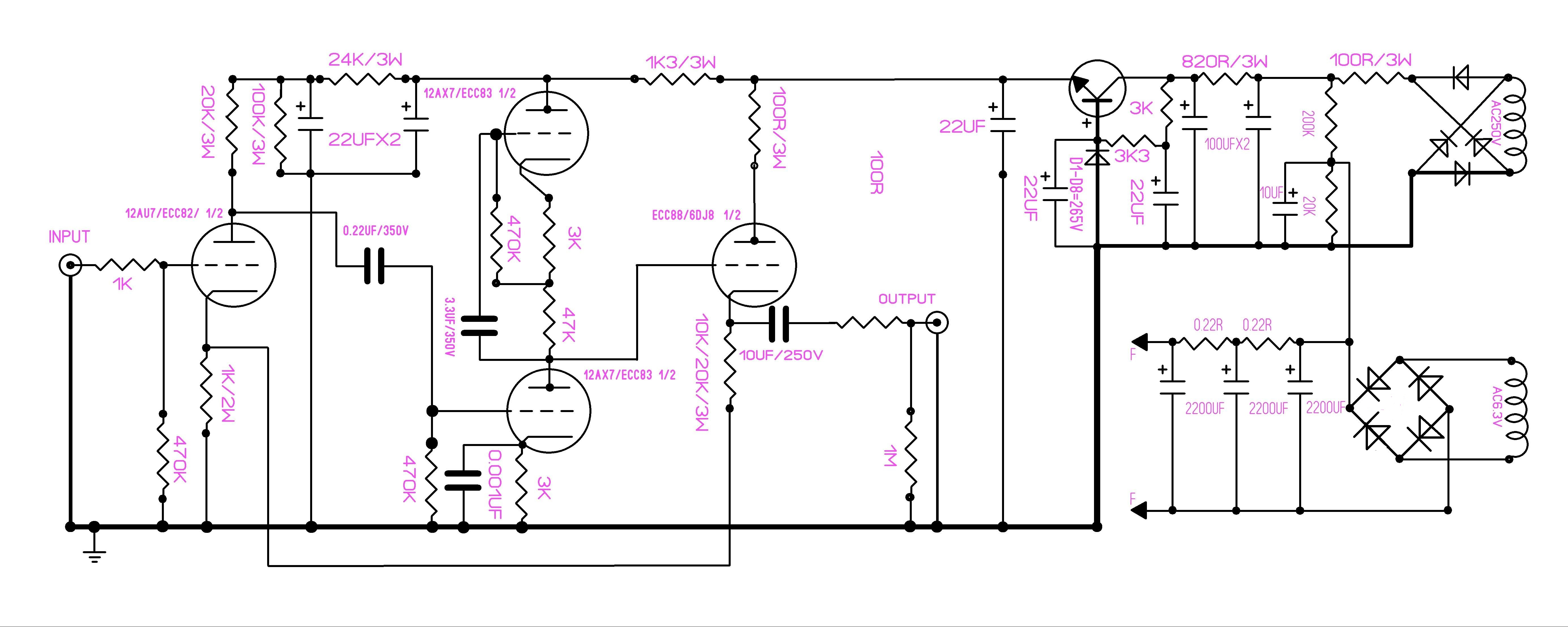 details about famous circuit 12au7 12ax7 tube preamplifier kit diy preamp EF86 Preamp Schematic