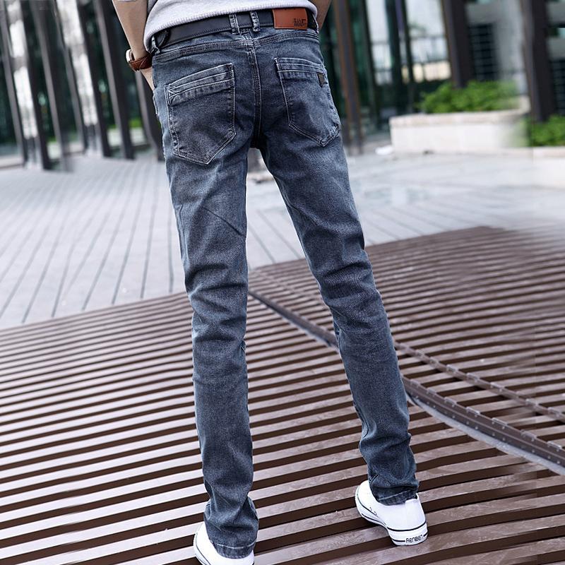 小脚裤灰色牛仔裤男春秋潮牌