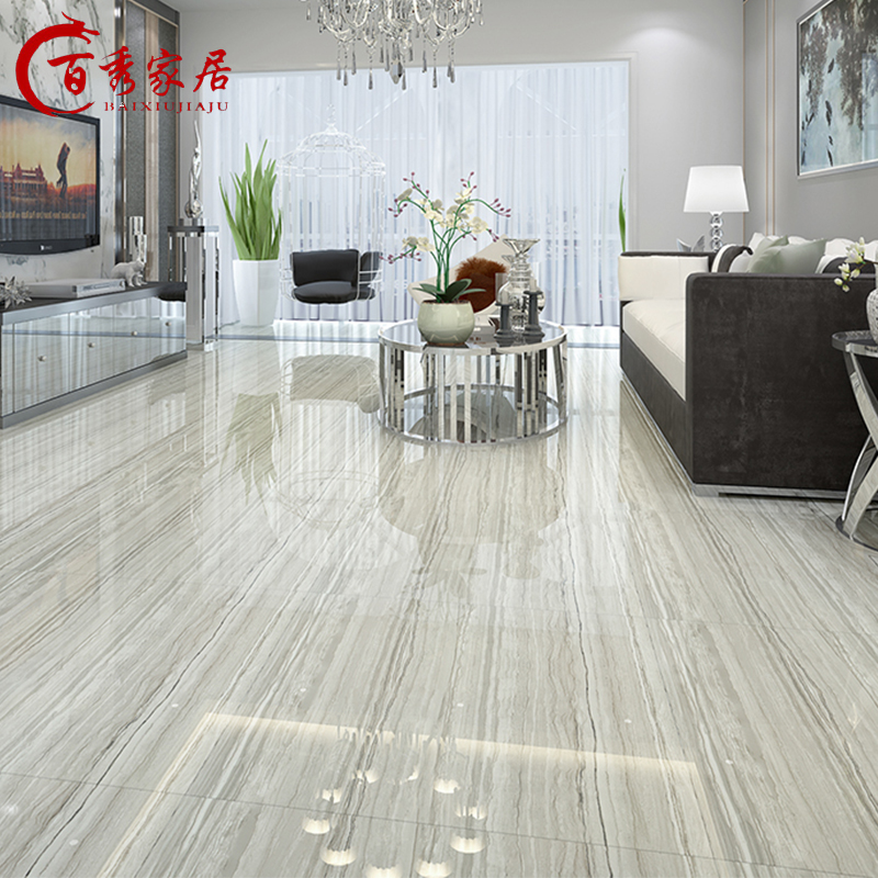 Foshan French Gray Wood Floor Tile Living Room Tile 800x800 Non Slip