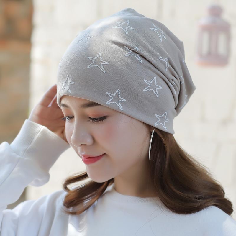 月子女棉秋冬帽头巾a月子春睡化疗薄透气睡觉包头套头光男女帽子帽