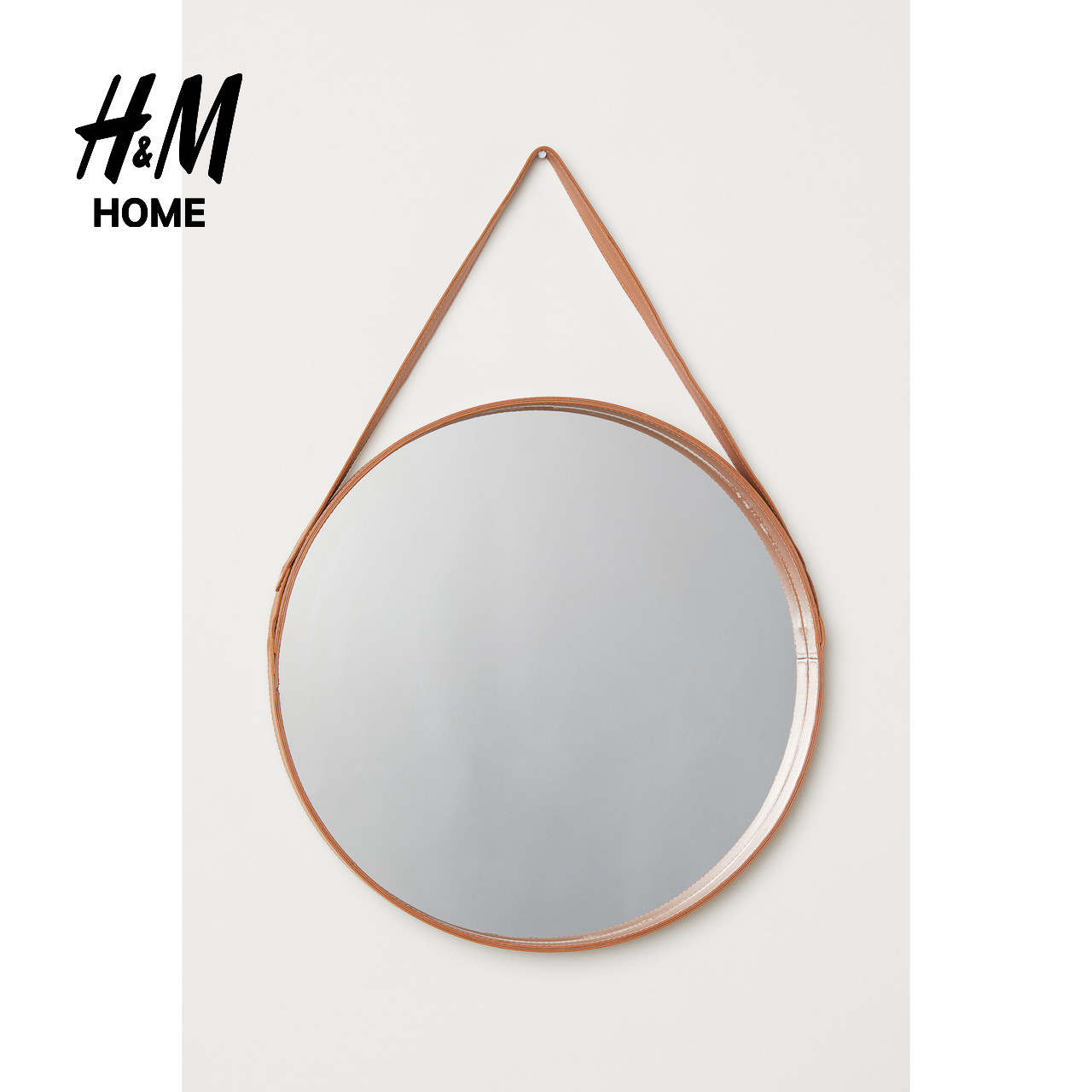 round leather mirror hanging hm home supplies modern genuine leather box round large glass mirror stickers wall hanging hm0536042 usd 15903