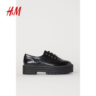 HM DIVIDED women's shoes women's shoes single shoes low-top shoes shoes new waterproof platform Derby shoes 0772322