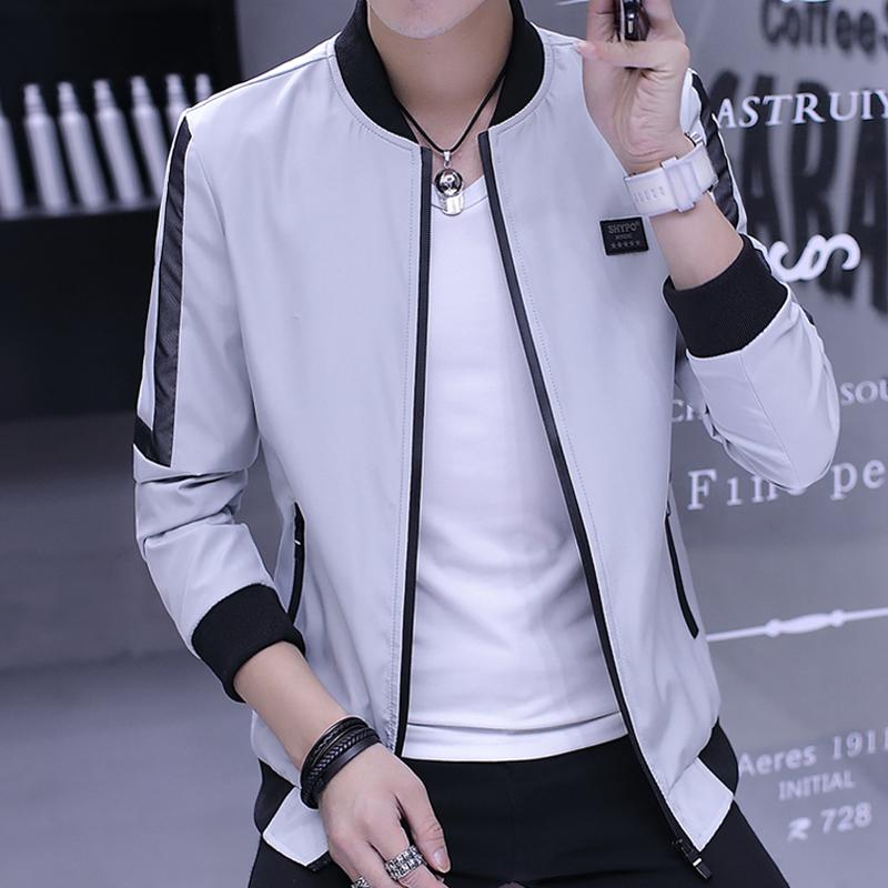2018新款春秋季休闲男装青年韩版潮流夹克修身薄款外套男士外衣服