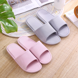 Summer bathroom slippers for men and women holding shoes indoor antiskid soft soled lovers bathing plastic sandals