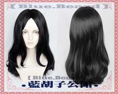 taobao agent 【Blue beard】Attack on Titan Pique Fingel Cosplay Wig Black