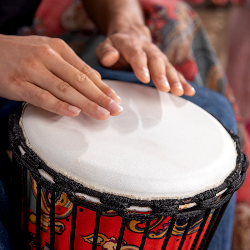成人儿童非洲鼓标8幼儿园标准10寸12寸专业丽江手鼓初学者入门