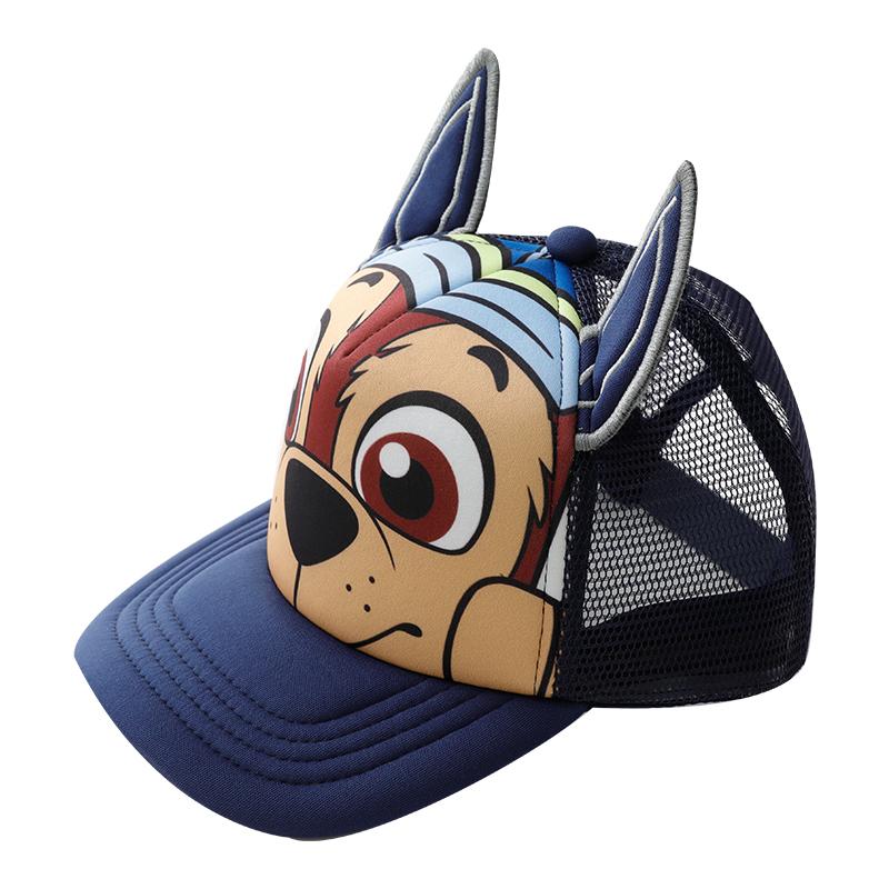 汪汪队夏季儿童帽子网眼凉帽男童鸭舌帽