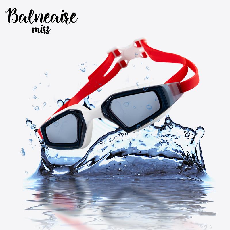 Quạt cô gái thể thao cạnh tranh kính bơi cho nam và nữ HD thiết bị đào tạo bơi chống sương mù 3D tầm nhìn cao - Goggles