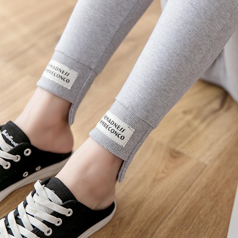 Рейтузы женщина верхняя одежда осенние брюки тонкая модель 2019 новый осень резьба винтов хлопок движение мода светло плотно брюки