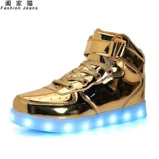Призрак шаг танец специальный подошва будет издано яркий вы можете отправить свет мужской и женщины взрослый чистый красный светящийся фонарь led спортивной обуви сын, цена 2155 руб