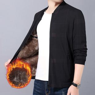 拓敦男士2020秋冬季新款夹克青年休闲外套加绒加厚韩版保暖上衣潮