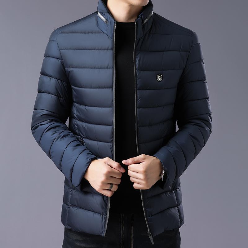 纽卡森男士棉衣休闲时尚外套简约修身百搭男装