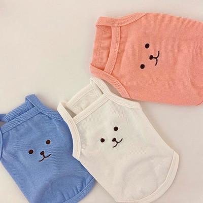 Summer cool pet dog clothes Teddy bear Xiong Bomei cat small dog Schnauzer VIP small suspenders
