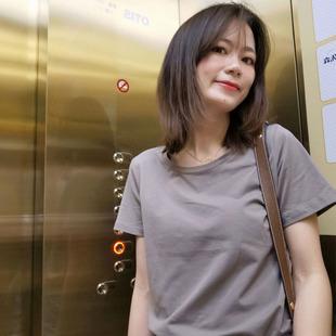 2021年新款经典流行色宝石蓝孔雀短袖纯棉宽松百搭春夏白色t恤女