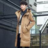 JALEEMAN/简男 青年男中长款连帽羽绒服 券后128元包邮