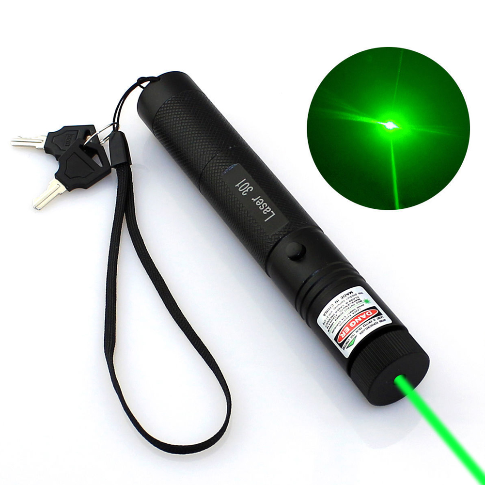 High Power Adjustable Zoomable Focus Burning Green Laser Poi