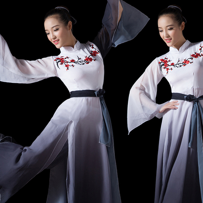 Chinese Folk Dance Costume Classical Dance Costume Chinese National Dance Costume Opening Dance Gradual Ink Dance Costume