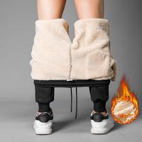 羊羔绒裤子男韩版宽松男士休闲裤直筒冬季潮流运动裤加绒修身小