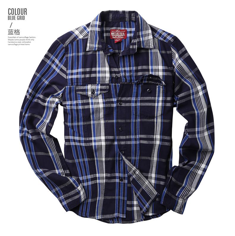 Maggie men's autumn big size fashion men's lad slim casual shirt men's long-sleeved shirt tide G2218 51 Online shopping Bangladesh